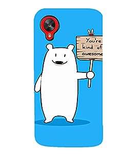 EPICCASE Funny polar bear Mobile Back Case Cover For LG Google Nexus 5 (Designer Case)
