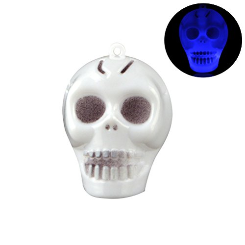 BESTOYARD 5pcs Mini Small Skull Luminous Hanging Horror Party Decoration Props Prank for Halloween Club Pub Haunted House