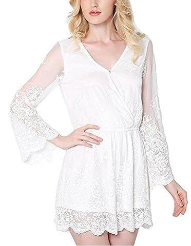 SunIfSnow - Combinaison - Pull - Manches Longues - Femme - blanc - M