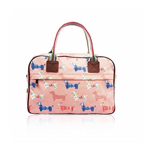 Vendita Cane Design Stile Opaco Tela Borsa Pink Medium