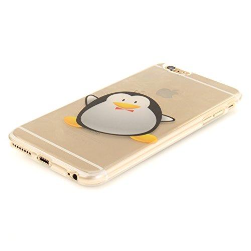 Ooboom® iPhone 6S/6 Hülle Handy Tasche Transparent TPU Silikon Ultra Dünn Schlank Schutzhülle Case Cover für iPhone 6S/6 - Pinguin Pinguin