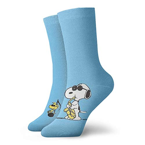 DailiH Unisex Casual Baumwollsocken, Musiker Snoopy Casual Crew Socken Athletic Sports Funny Socks Kleid Socken High Ankle 11,8 Zoll -