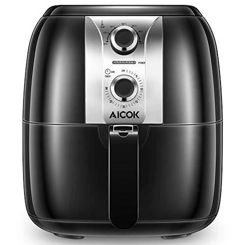 Aicok Heißluftfritteuse, Fritteuse ohne Öl, Gesund, Sicher und Multifunktional, Einstellbare Temperatur & Timer
