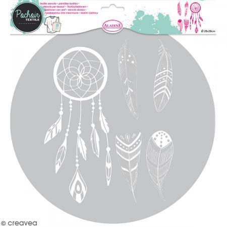 Aladine - 81002 - Pochoir Textile - Plume
