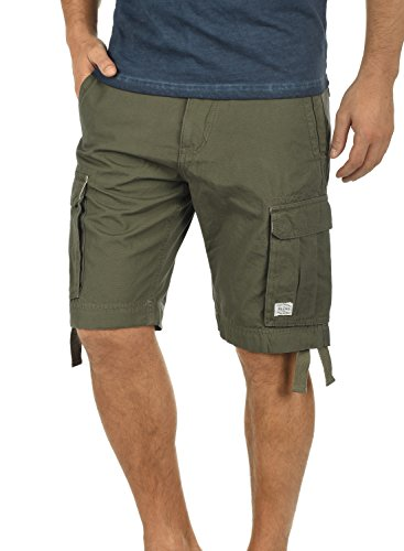 Blend Kolo Herren Cargo Shorts Bermuda Kurze Hose Aus 100% Baumwolle Regular Fit, Größe:L, Farbe:Dusty Green (70595) (Cargo Slim Shorts)