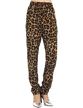 [Patrocinado]iB-iP Mujer Leopardo Estampados A Casuales De Poca Altura Pantalones Relajados