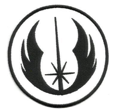 Aufnäher Bügelbild bestickt Patch Krieg der Sterne Jedi Insignia (schwarz) Badge (Who-tardis-patch Doctor)