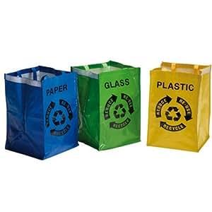Set de 3 sacs de tri s lectif poubelle cuisine for Poubelle de cuisine tri selectif 3 bacs