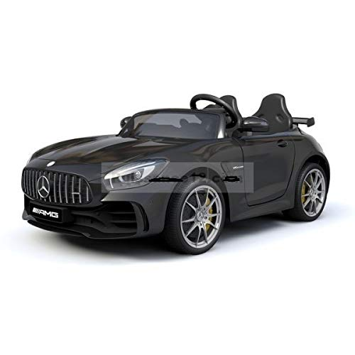 MINICARS Kind Elektroauto Mercedes GTR 2-Sitzer 131 cm Schwarz