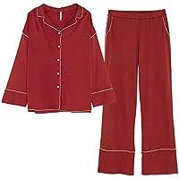 1fbf8f95a DUKUNKUN Pijamas Mujer Algodón De Manga Larga Conjunto De Rebeca Sencillo  Suelto