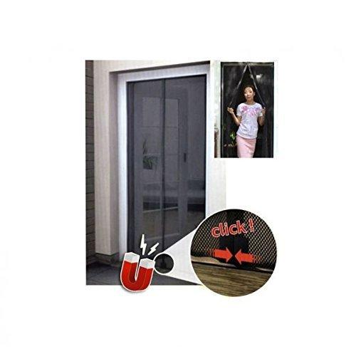 Zanzariera con velcro per porte a strisce magnetiche maurer 120x240 cm