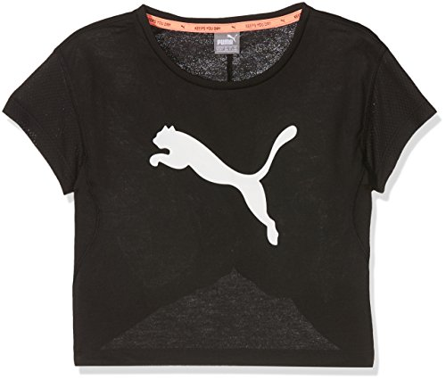 PUMA Kinder Softsport Graphic Layer Tee T-Shirt, Puma Black, 176 (Sport Graphic T-shirt)