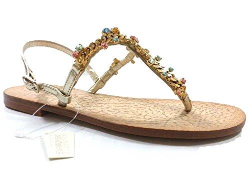 scarpe donna EDDY DANIELE 37 sandali gioiello platino swarovski AX861