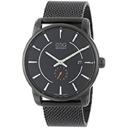 ESQ Movado Men's 07301445 Capital Ionic Black-Plated Steel and Bracelet Black Dial Watch