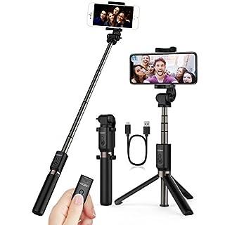 Bluetooth-Handstativ / Selfie-Stativ, Yoozon verstellbarer Selfiestick mit Fernauslöser, 3-in-1-Taschen-Selfiestick, ausziehbar, kabellos, Aluminium, 360°-Drehung für iPhone X, für iPhone, Samsung