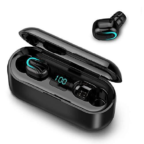 Lixada BT Kopfhörer TWS 5.0 Stereo-Funkkopfhörer wasserdichte Mini Stereo Noise Cancelling Kopfhörer mit Zwei Mikrofonen für Smartphones