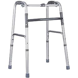 Zfggd Marchette Pliable Quatre Coins pour Les Personnes âgées et Les Personnes handicapées déambulateur en Aluminium épais Fixe