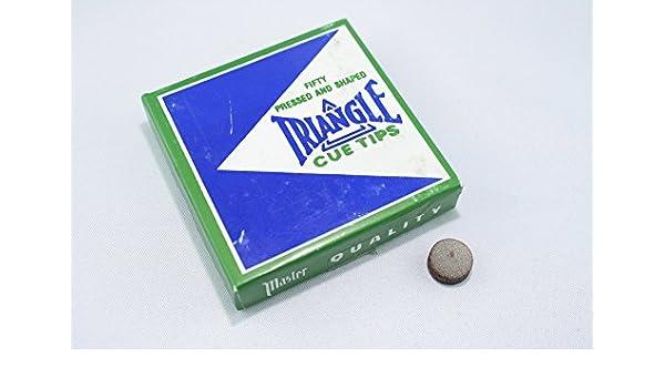 5 Stück 13 mm, Queue-Tip Triangle Klebleder Poolleder Pomeranze
