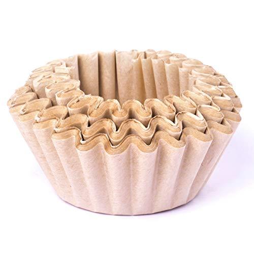 BEEM Original Universal-Korbfiltertüten 100 Stück - 10 Tassen | geschmacksneutral | 80/200mm Papierfilter für Kaffeemaschinen mit Korbfilter | weiß