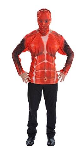 Karneval Klamotten Skelett Kostüm Herren T-Shirt X-Ray Skelett Anatomie Muskeln Halloween Horror Herren-kostüm Einheitsgröße