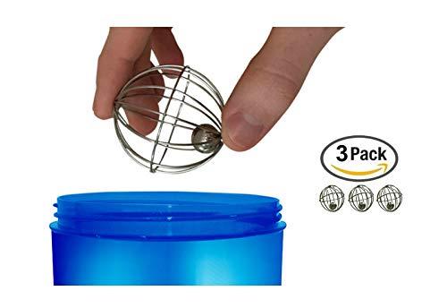 VansieHome Kugeln Kugeln aus rostfreiem Stahl Shaker 3 Schneebesen (Vertikale Stahl-flüssigkeit)
