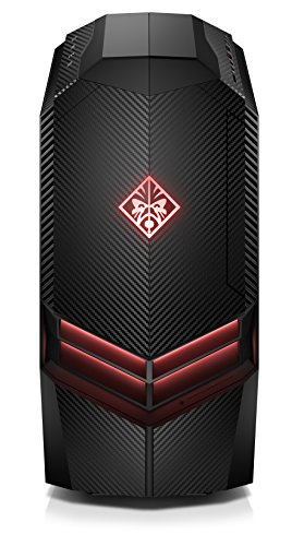HP Omen 880-063ng Desktop PC (Intel Core i7-7700K, 16GB RAM, 1TB HDD, 256GB SSD, AMD Radeon RX 580, Windows 10 Home 64) schwarz