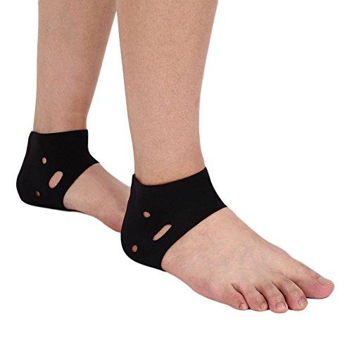 Forfar Sport Knöchelbandage Socke Sport Fuß Knöchel-Unterstützung mit Breathable Loch elastische Klammer Gym Dance Schwarz Ultraschutzpflege