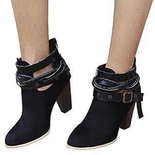 TianWlio Boots Stiefel Schuhe Stiefeletten Frauen Herbst Winter Stiefeletten Short Booties Knight Boots aus Leder Boots Stiefel Weihnachten Schwarz 41