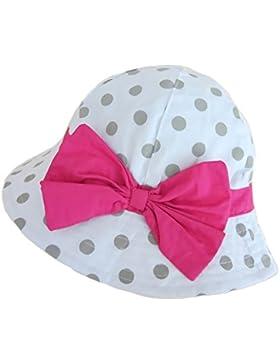 Gifts Treat Sombrero De Niña Summer Sun Hat Sombrero De Boonie De AlgodÓN Plegable con Pajarita Grande- (6 Meses...