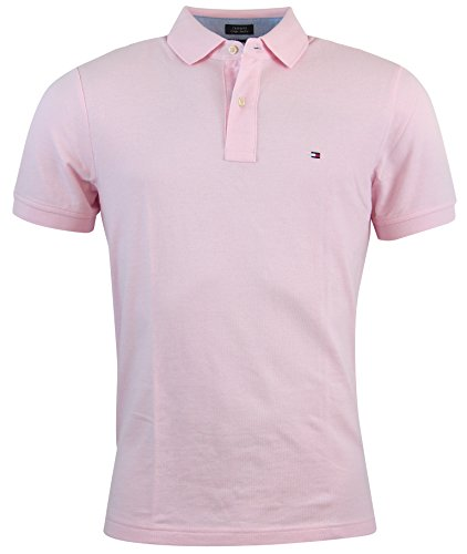 Custom Fit Solid Color Polo Shirt - S - Pink ()