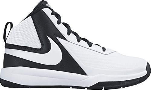 Nike Team Hustle D 7 (Gs) Scarpe da basketball, Bambini e ragazzi, Multicolore (White/White-Black), 38 Multicolore (White/White/Black)