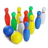 Jeu de bowling de 10 Quilles et 2 Bowling Balle Jeu de Plein Air Jardin de Famille Société pour Enfant 3 Jahre und Bis (Grand)
