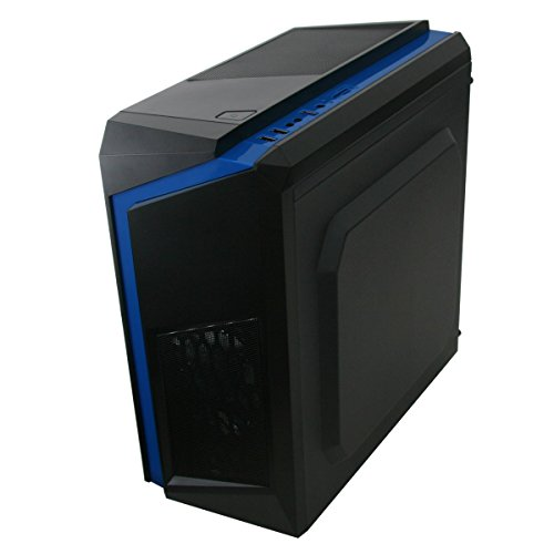 Gaming PC Package Deal: CIT F3 Black-Blue Computer Case with Blue Fans – Intel Core i5 Quad Core 3.10GHz CPU – Fast 16GB DDR3 Memory – Massive 1TB HDD – Nvidia GeForce 2GB Graphics Card – Genuine Windows 10 Home 64Bit CoA License – FREE WiFi Dongle and Gaming Keyboard and Mouse Online