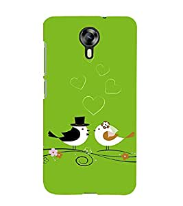 Fiobs green theme christian wedding cute bird romantic loving couple Designer Back Case Cover for Micromax Canvas Xpress 2 E313