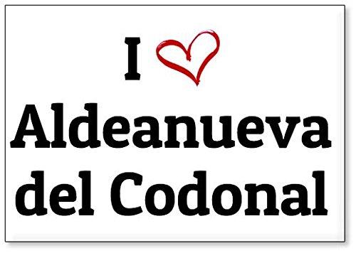 Mundus Souvenirs - Amo Aldeanueva del Codonal, Imán para Nevera (diseño 3)