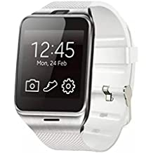 Reloj Inteligente,Xinan GV18 Relojs Bluetooth del Teléfono GSM NFC para Samsung iPhone (Blanco)