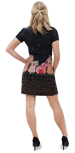 Violaceo dell'abito SINGING mobileonede DRESS 7030 lavorato a maglia Black