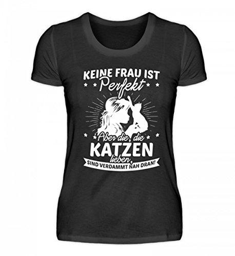 Chorchester Hochwertiges Damenshirt - Katzen Frauen Aufgepasst!