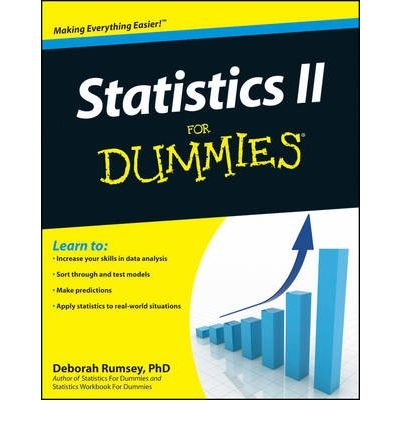 [ STATISTICS II FOR DUMMIES BY RUMSEY, DEBORAH](AUTHOR)PAPERBACK