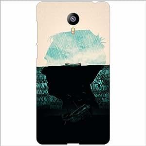 Meizu M2 Back Cover - Half Face Desiner Cases