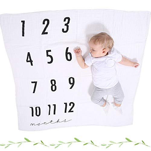 grafie Requisiten, Babydecken Unisex mit Fotografie Requisiten Geburtstag Vollmond Decke Baby gewickelt Handtuch Baumwolle Gaze Fotografie Requisiten,B ()