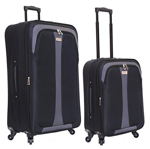 Slimbridge Andalucia juego de 2 maletas extensibles, Negro