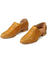 6a0d938b6e Zapatos de Vestir Mujer Planas Derby Transpirable Oxford Casual Fiesta  Sandalias Primavera Verano Calzado Tacón 3cm
