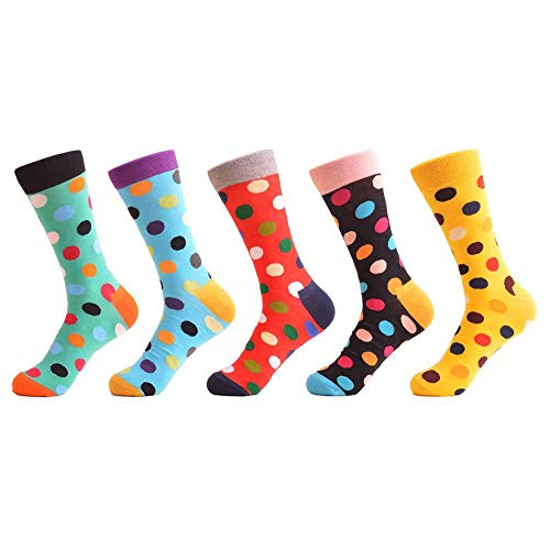 LILIKI@ 5 Paare/Los Klassische Kreative Punkte Frauen Mode Socken Casual Life Hause Lustige Crew Socken Für Geschenke   06939826070086