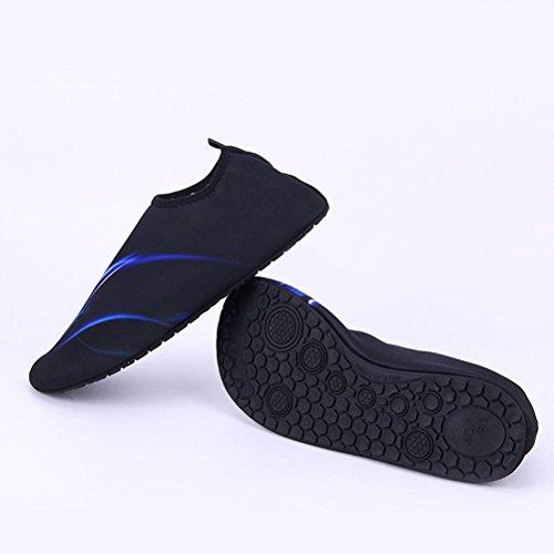 Firelong Water pelle scarpe rapida Dry Aqua calzini per nuoto spiaggia piscina surf yoga–per uomini e donne, coppia Blue