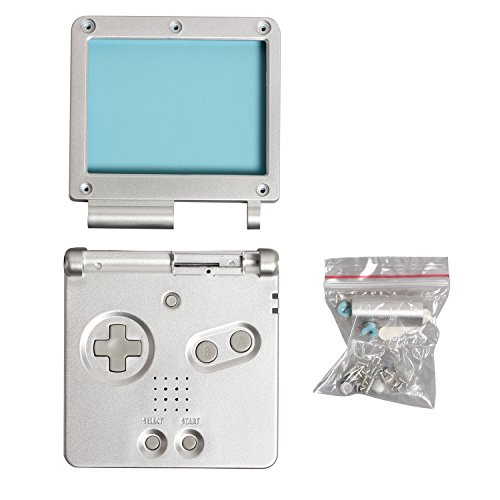 Timorn Sostituzione Case Cover Shell alloggiamento pieno per Nintendo GBA SP Gameboy Advance SP (Argento)