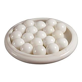 Yuchengstone-Marmorkugel-4er-Set-wei-Stilvolles-Wohnaccessoire-Dekolement-Marmor-Kugel-Naturstein-Qigong-Mae–4cm-Gewicht-ca04kg