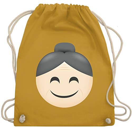 Oma Verkleiden Kostüm - Comic Shirts - Oma Emoji - Unisize - Senfgelb - WM110 - Turnbeutel & Gym Bag