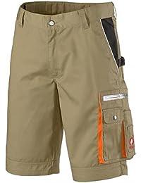KRÄHE kurze Arbeitshose Modern Plus Pro – Hose mit Mehrwert in braun Größe 54