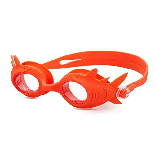 1949shop Kinderbrille, Cartoon Shark Shape Jungen und Mädchen Anti-Fog-HD-Brille 3D-Silikondichtung wasserdichte Schwimmbrille (Schwimmen-schutzbrillen Ozean)
